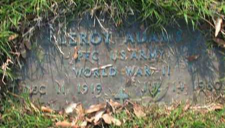 ADAMS (VETERAN WWII), LEROY - Lonoke County, Arkansas   LEROY ADAMS (VETERAN WWII) - Arkansas Gravestone Photos