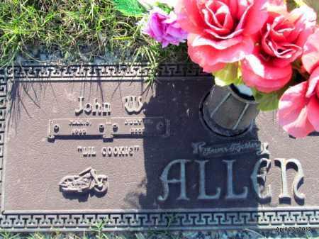 ALLEN, JOHN W - Lonoke County, Arkansas | JOHN W ALLEN - Arkansas Gravestone Photos