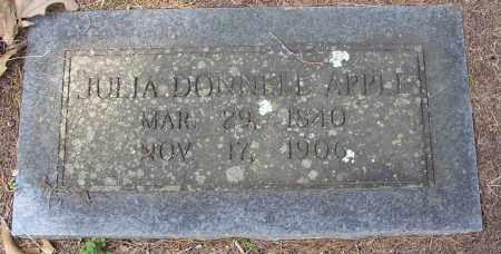 APPLE, JULIA DONNELL - Lonoke County, Arkansas | JULIA DONNELL APPLE - Arkansas Gravestone Photos