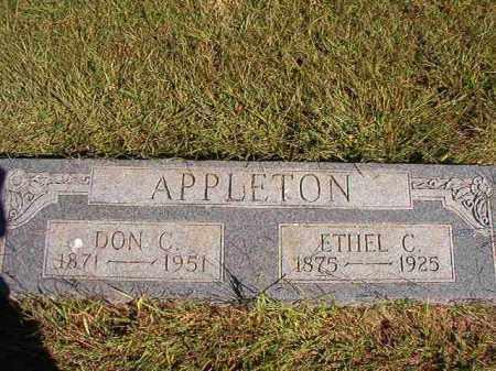 APPLETON, DON C - Lonoke County, Arkansas   DON C APPLETON - Arkansas Gravestone Photos