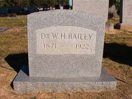 BAILEY, DR, W H - Lonoke County, Arkansas   W H BAILEY, DR - Arkansas Gravestone Photos