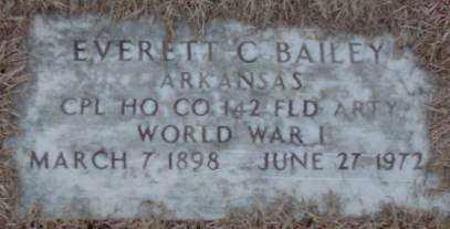 BAILEY (VETERAN WWI), EVERETT C. - Lonoke County, Arkansas | EVERETT C. BAILEY (VETERAN WWI) - Arkansas Gravestone Photos