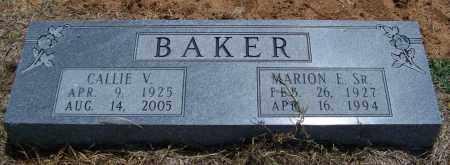 BAKER, MARION E SR - Lonoke County, Arkansas | MARION E SR BAKER - Arkansas Gravestone Photos