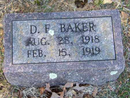 BAKER, D. F. - Lonoke County, Arkansas   D. F. BAKER - Arkansas Gravestone Photos