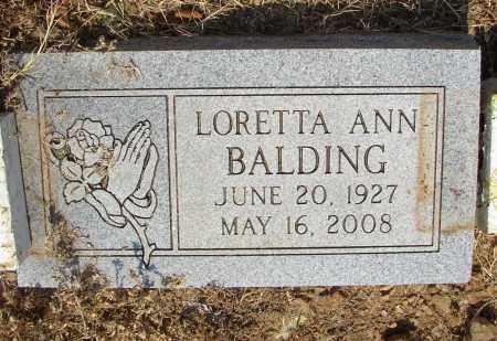 BALDING, LORETTA A.. - Lonoke County, Arkansas | LORETTA A.. BALDING - Arkansas Gravestone Photos