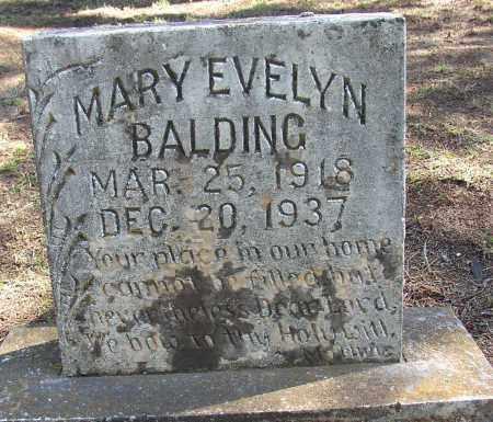 BALDING, MARY EVELYN - Lonoke County, Arkansas | MARY EVELYN BALDING - Arkansas Gravestone Photos