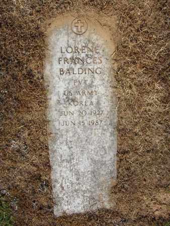 BALDING (VETERAN KOR), LORENE FRANCES - Lonoke County, Arkansas | LORENE FRANCES BALDING (VETERAN KOR) - Arkansas Gravestone Photos