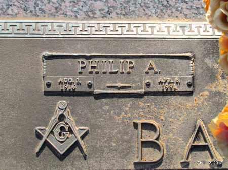 BARBER, PHILIP A (CLOSEUP) - Lonoke County, Arkansas | PHILIP A (CLOSEUP) BARBER - Arkansas Gravestone Photos