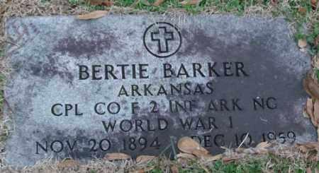 BARKER (VETERAN WWI), BERTIE - Lonoke County, Arkansas   BERTIE BARKER (VETERAN WWI) - Arkansas Gravestone Photos