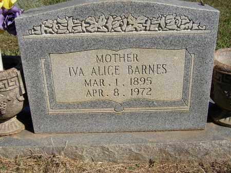 BARNES, IVA ALICE - Lonoke County, Arkansas   IVA ALICE BARNES - Arkansas Gravestone Photos