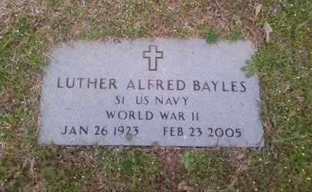 BAYLES  (VETERAN WWII), LUTHER ALFRED - Lonoke County, Arkansas | LUTHER ALFRED BAYLES  (VETERAN WWII) - Arkansas Gravestone Photos