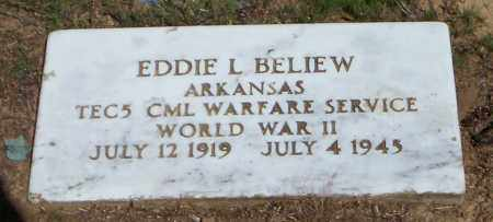 BELIEW (VETERAN WWII), EDDIE L - Lonoke County, Arkansas | EDDIE L BELIEW (VETERAN WWII) - Arkansas Gravestone Photos