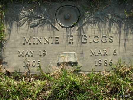 BIGGS, MINNIE F. - Lonoke County, Arkansas | MINNIE F. BIGGS - Arkansas Gravestone Photos