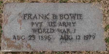 BOWIE (VETERAN WWI), FRANK B - Lonoke County, Arkansas | FRANK B BOWIE (VETERAN WWI) - Arkansas Gravestone Photos