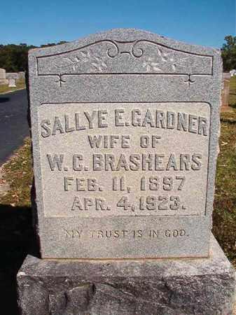 GARDNER BRASHEARS, SALLYE E - Lonoke County, Arkansas | SALLYE E GARDNER BRASHEARS - Arkansas Gravestone Photos