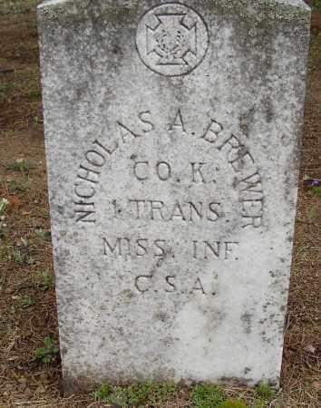 BREWER (VETERAN CSA), NICHOLAS A - Lonoke County, Arkansas   NICHOLAS A BREWER (VETERAN CSA) - Arkansas Gravestone Photos