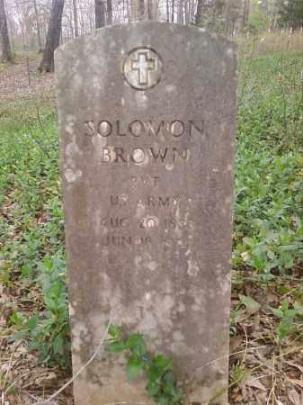 BROWN  (VETERAN), SOLOMON - Lonoke County, Arkansas   SOLOMON BROWN  (VETERAN) - Arkansas Gravestone Photos