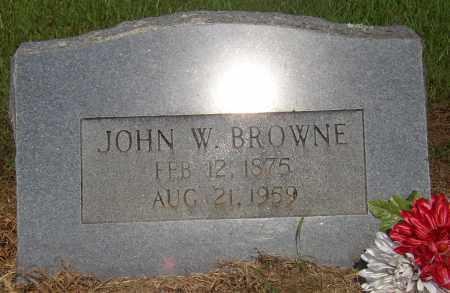 BROWNE, JOHN W. - Lonoke County, Arkansas   JOHN W. BROWNE - Arkansas Gravestone Photos