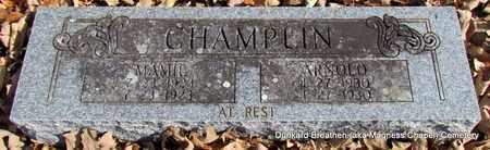 CHAMPLIN, MAMIE - Lonoke County, Arkansas | MAMIE CHAMPLIN - Arkansas Gravestone Photos