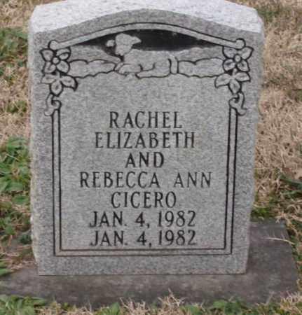 CICERO, RACHEL ELIZABETH - Lonoke County, Arkansas | RACHEL ELIZABETH CICERO - Arkansas Gravestone Photos