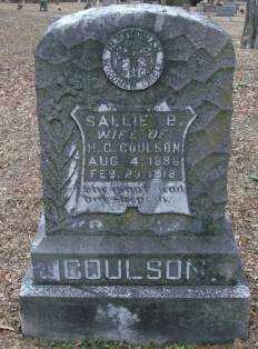 COULSON, SALLIE B - Lonoke County, Arkansas | SALLIE B COULSON - Arkansas Gravestone Photos