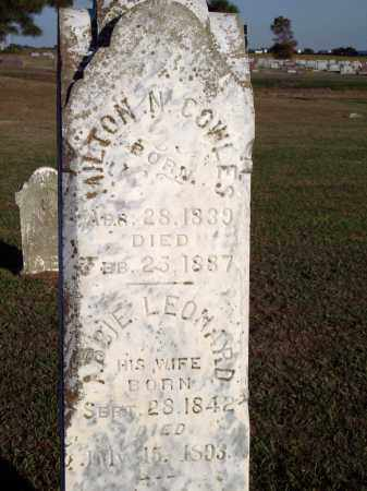 COWLES, MILTON N - Lonoke County, Arkansas | MILTON N COWLES - Arkansas Gravestone Photos