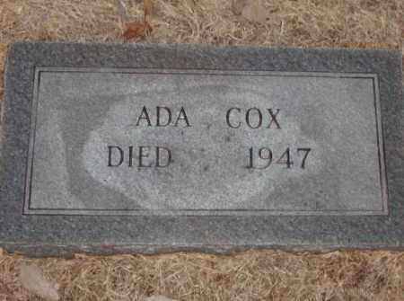 COX, ADA - Lonoke County, Arkansas   ADA COX - Arkansas Gravestone Photos