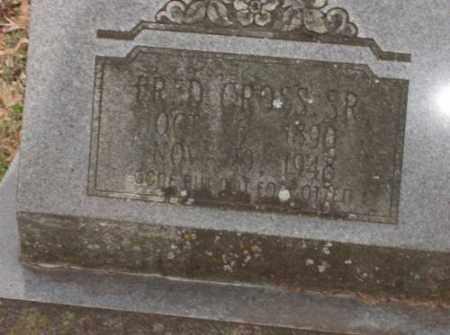 CROSS, SR, FRED - Lonoke County, Arkansas | FRED CROSS, SR - Arkansas Gravestone Photos