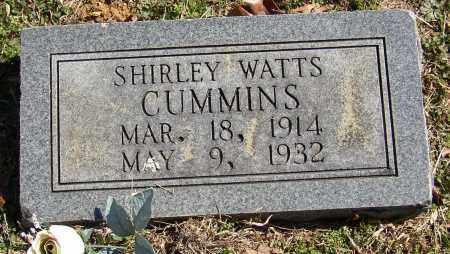 WATTS CUMMINS, SHIRLEY - Lonoke County, Arkansas | SHIRLEY WATTS CUMMINS - Arkansas Gravestone Photos
