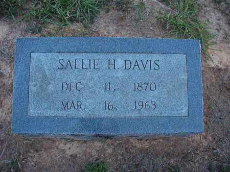 DAVIS, SALLIE H - Lonoke County, Arkansas | SALLIE H DAVIS - Arkansas Gravestone Photos