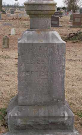 DICKEY, JOHN A. - Lonoke County, Arkansas | JOHN A. DICKEY - Arkansas Gravestone Photos