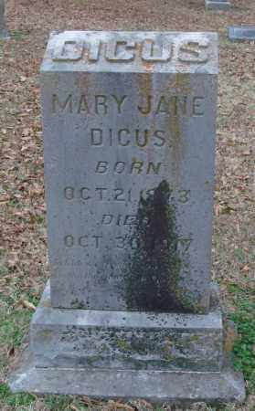 DICUS, MARY JANE - Lonoke County, Arkansas | MARY JANE DICUS - Arkansas Gravestone Photos