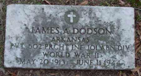 DODSON (VETERAN WWII), JAMES A - Lonoke County, Arkansas   JAMES A DODSON (VETERAN WWII) - Arkansas Gravestone Photos