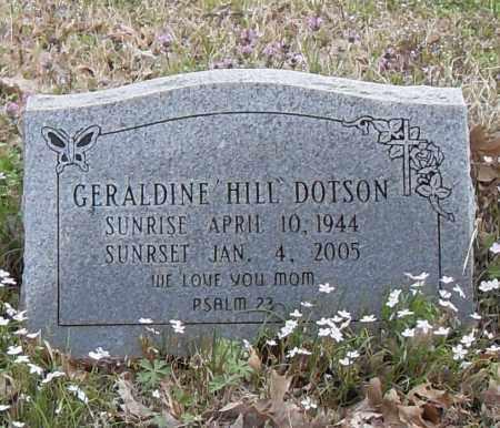 HILL DOTSON, GERALDINE - Lonoke County, Arkansas | GERALDINE HILL DOTSON - Arkansas Gravestone Photos