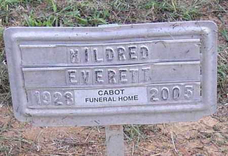 EVERETT, MILDRED - Lonoke County, Arkansas   MILDRED EVERETT - Arkansas Gravestone Photos