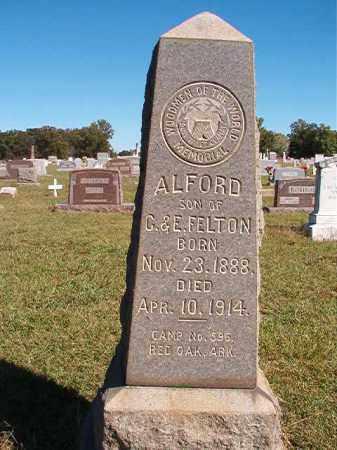 FELTON, ALFORD - Lonoke County, Arkansas | ALFORD FELTON - Arkansas Gravestone Photos
