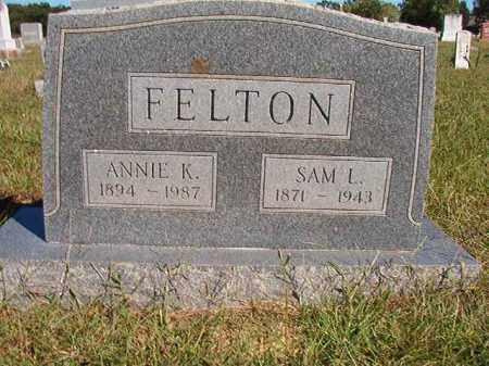 FELTON, ANNIE K - Lonoke County, Arkansas | ANNIE K FELTON - Arkansas Gravestone Photos