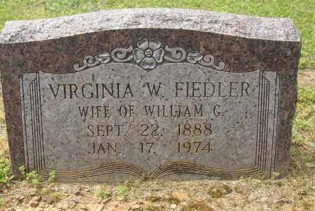 FIEDLER, VIRGINIA W. - Lonoke County, Arkansas | VIRGINIA W. FIEDLER - Arkansas Gravestone Photos