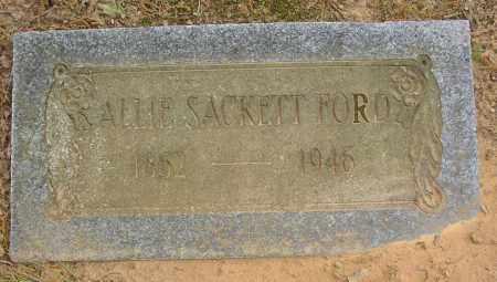 SACKETT FORD, ALLIE - Lonoke County, Arkansas | ALLIE SACKETT FORD - Arkansas Gravestone Photos