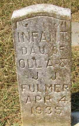 FULMER, INFANT DAUGHTER - Lonoke County, Arkansas   INFANT DAUGHTER FULMER - Arkansas Gravestone Photos