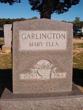 GARLINGTON, MARY ELLA - Lonoke County, Arkansas   MARY ELLA GARLINGTON - Arkansas Gravestone Photos