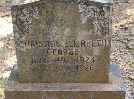 GEORGE, CHRISTINE ELIZABETH - Lonoke County, Arkansas | CHRISTINE ELIZABETH GEORGE - Arkansas Gravestone Photos