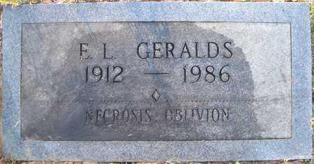 GERALDS, E L - Lonoke County, Arkansas | E L GERALDS - Arkansas Gravestone Photos