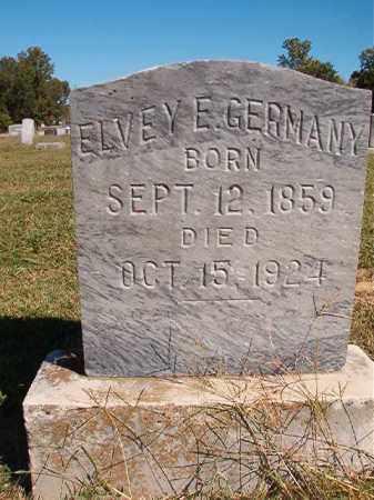 GERMANY, ELVEY E - Lonoke County, Arkansas | ELVEY E GERMANY - Arkansas Gravestone Photos