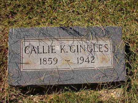 GINGLES, CALLIE K - Lonoke County, Arkansas | CALLIE K GINGLES - Arkansas Gravestone Photos