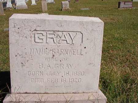 BARNWELL GRAY, MAMIE - Lonoke County, Arkansas | MAMIE BARNWELL GRAY - Arkansas Gravestone Photos