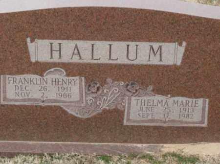 HALLUM, THELMA MARIE - Lonoke County, Arkansas | THELMA MARIE HALLUM - Arkansas Gravestone Photos