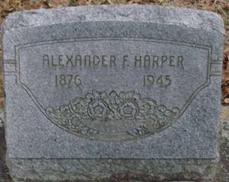 HARPER, ALEXANDER F - Lonoke County, Arkansas   ALEXANDER F HARPER - Arkansas Gravestone Photos