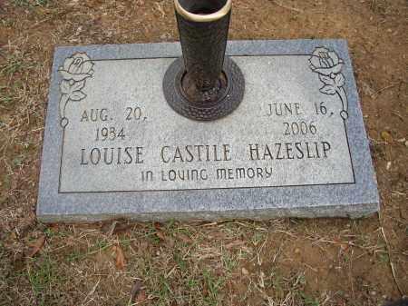 CASTILE HAZESLIP, LOUISE - Lonoke County, Arkansas   LOUISE CASTILE HAZESLIP - Arkansas Gravestone Photos