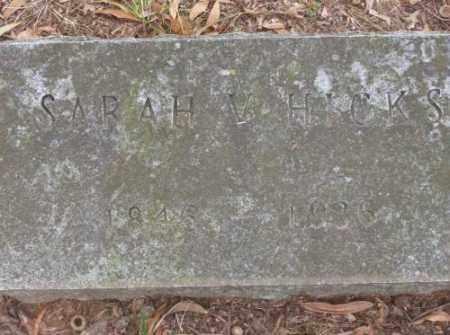 HICKS, SARAH V - Lonoke County, Arkansas   SARAH V HICKS - Arkansas Gravestone Photos